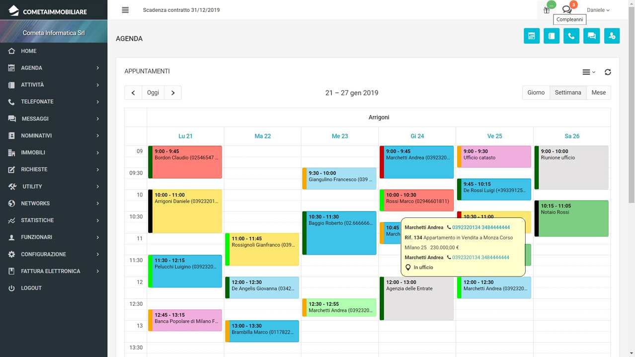 Planning settimanale excel download gratis trattamento for Planner cucina gratis