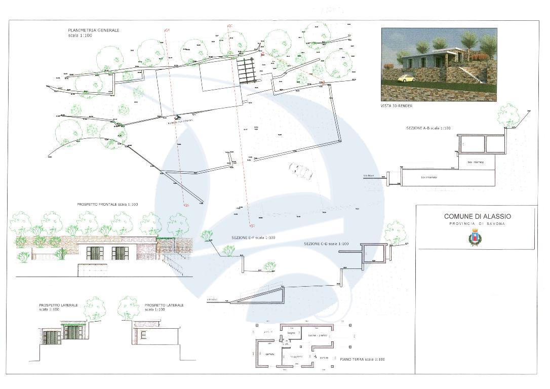 Alassio, vendesi porzione di terreno con progetto approvato per villetta e box.
